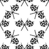 Seamless pattern with tribal racing checkered flag Stock Photo