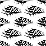 Seamless pattern with tribal racing tattoo Stock Photos
