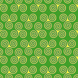 Seamless pattern with triple spiral shapes Stock Photography