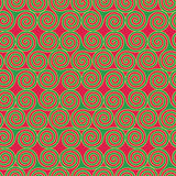 Seamless pattern with Triskele shapes Royalty Free Stock Images
