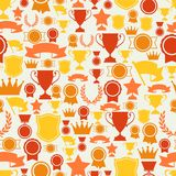 Seamless pattern with trophy and awards Royalty Free Stock Image