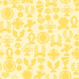 Seamless pattern with trophy and awards Stock Images