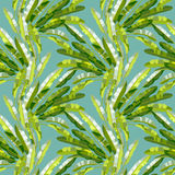 Seamless pattern with tropic plants Royalty Free Stock Photos