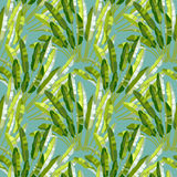 Seamless pattern with tropic plants Royalty Free Stock Photo