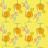 Seamless pattern. tropical cocktails. Stock Photo