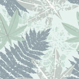 Seamless pattern with tropical and exotic leaves Stock Photos