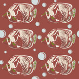 Seamless pattern. tropical fish. Stock Photos