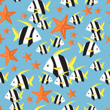 Seamless pattern with tropical fish Stock Photography