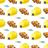 Seamless pattern with tropical  fish. Vector  illustration Stock Photography