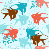 Seamless pattern with tropical fishes Stock Images