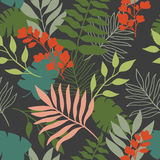 Seamless pattern tropical leaves Stock Photography