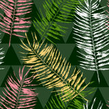Seamless pattern with tropical leaves Royalty Free Stock Photography