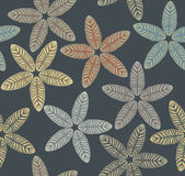 Seamless pattern with tropical leaves Stock Images