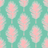 Seamless pattern tropical leaves stock illustration