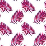 Seamless pattern of tropical leaves. Vector seamless pattern. Tropical illustration. Jungle foliage. royalty free illustration