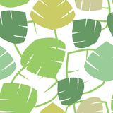 Seamless  pattern with tropical palm leaves Royalty Free Stock Images