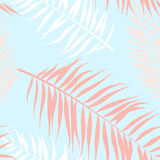 Seamless pattern of Tropical palm leaves. Vector illustration. Flat design. Style Stock Photos