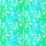 Seamless pattern with tropical palm leaves Stock Photo