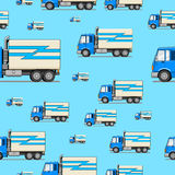 Seamless pattern truck vector illustration Stock Images