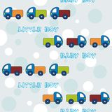 Seamless pattern with trucks for little boys Royalty Free Stock Photography