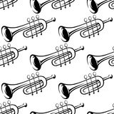 Seamless pattern of trumpets Stock Photo