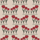 Seamless pattern with tulip Royalty Free Stock Image