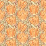 Seamless pattern with tulips Royalty Free Stock Photo