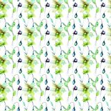 Seamless pattern with Tulips flowers. Watercolor painting Stock Images