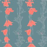 Seamless pattern with tulips Stock Image