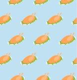 Seamless pattern of turkeys. Royalty Free Stock Photo