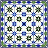 Seamless  pattern. Turkish, Moroccan, Portuguese  Azulejo tiles and border, ornaments. Stock Photos