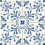 Seamless  pattern .  Turkish, Moroccan, Portuguese  tiles, Azulejo, ornaments.  Islamic Art. Royalty Free Stock Photos