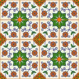 Seamless  pattern .  Turkish, Moroccan, Portuguese  tiles, Azulejo, ornaments.  Islamic Art. Gorgeous seamless  pattern from dark blue and white floral Turkish Royalty Free Stock Photos