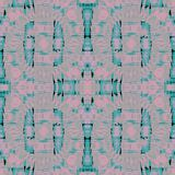 Seamless pattern turquoise gray pink. Abstract geometric symmetric background, seamless circle pattern, spiral marking,mauve and gray on turquoise stock illustration