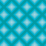 Seamless pattern - Turquoise rombs Stock Photo