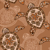 Seamless pattern with turtles. Can be used for wallpaper, pattern fills, web page background,surface textures. Seamless animal background. Indian mehendi style Royalty Free Stock Photos