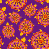 Seamless pattern of turtles Royalty Free Stock Photos
