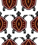 Seamless pattern with turtles Stock Image