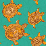 Seamless pattern with turtles. Seamless pattern can be used for Royalty Free Stock Photography
