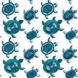 Seamless pattern with turtles. Seamless pattern can be used for Royalty Free Stock Photos