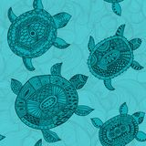 Seamless pattern with turtles. Seamless pattern can be used for Royalty Free Stock Photo