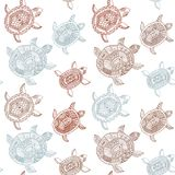 Seamless pattern with turtles. Seamless pattern can be used for Royalty Free Stock Image