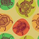 Seamless pattern with turtles. Seamless pattern can be used for Stock Photos