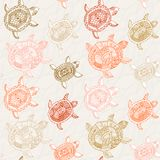 Seamless pattern with turtles. Seamless pattern can be used for Royalty Free Stock Images