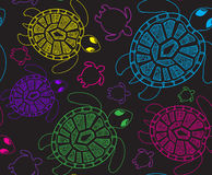Seamless pattern with turtles. Seamless pattern can be used for Stock Image