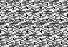 Vector hexagonal seamless pattern of monochrome twisted fiber. vector illustration