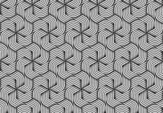 Vector hexagonal seamless pattern of twisted fiber. Stock Image