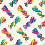 Seamless pattern of twisted lollies. vector  Royalty Free Stock Photo