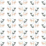 Seamless pattern of two different colored cats go  Royalty Free Stock Image
