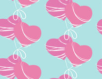 Seamless pattern with two pink hearts Royalty Free Stock Images